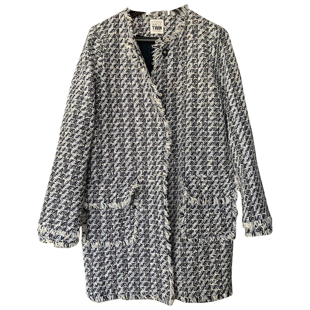 Twin Set \N Blue Tweed coat for Women S International