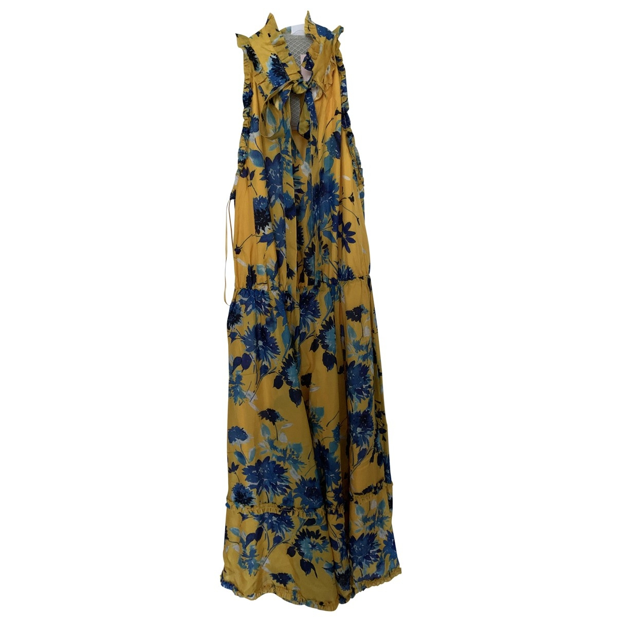 Non Signé / Unsigned \N Yellow Silk dress for Women 38 IT