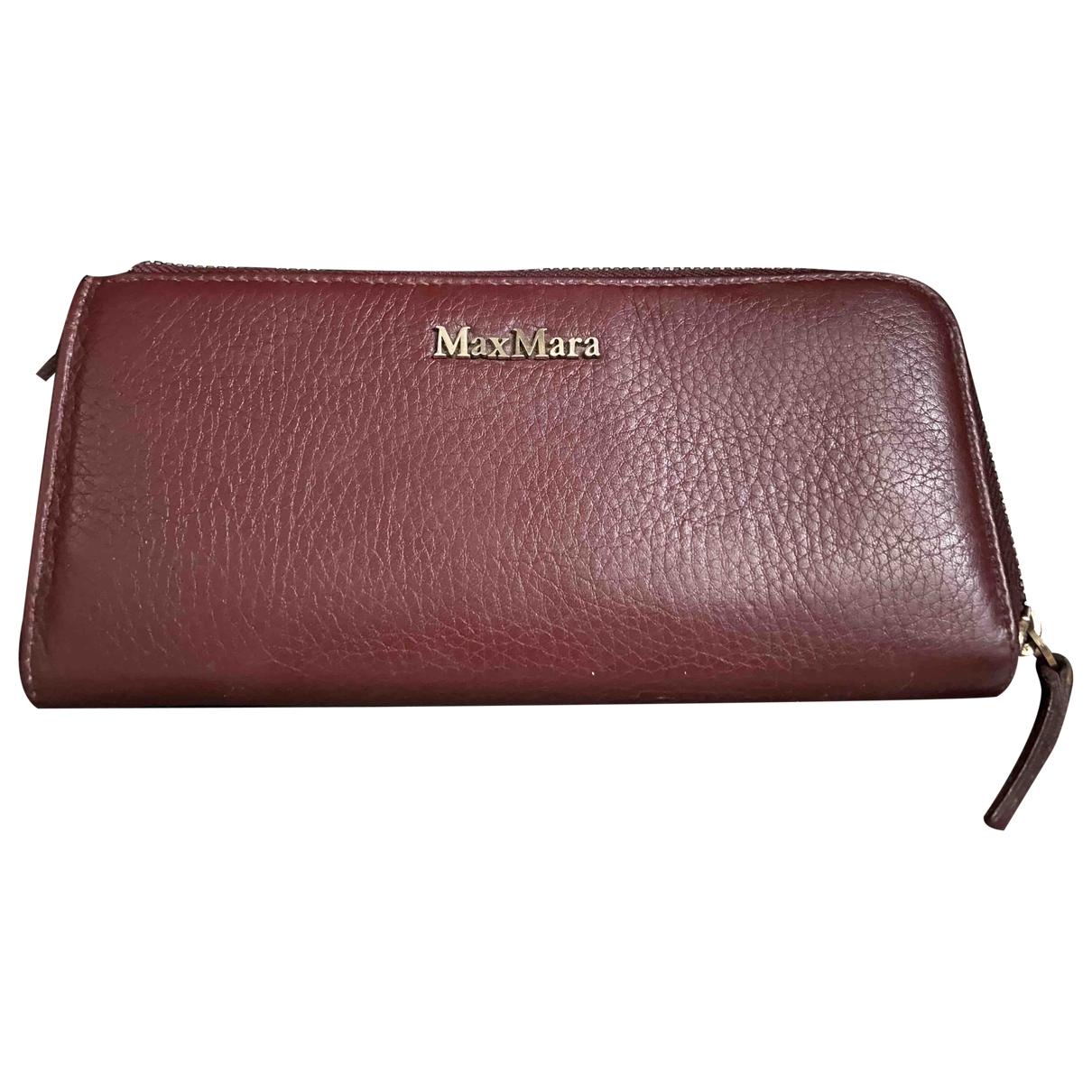 Max Mara \N Burgundy Leather wallet for Women \N
