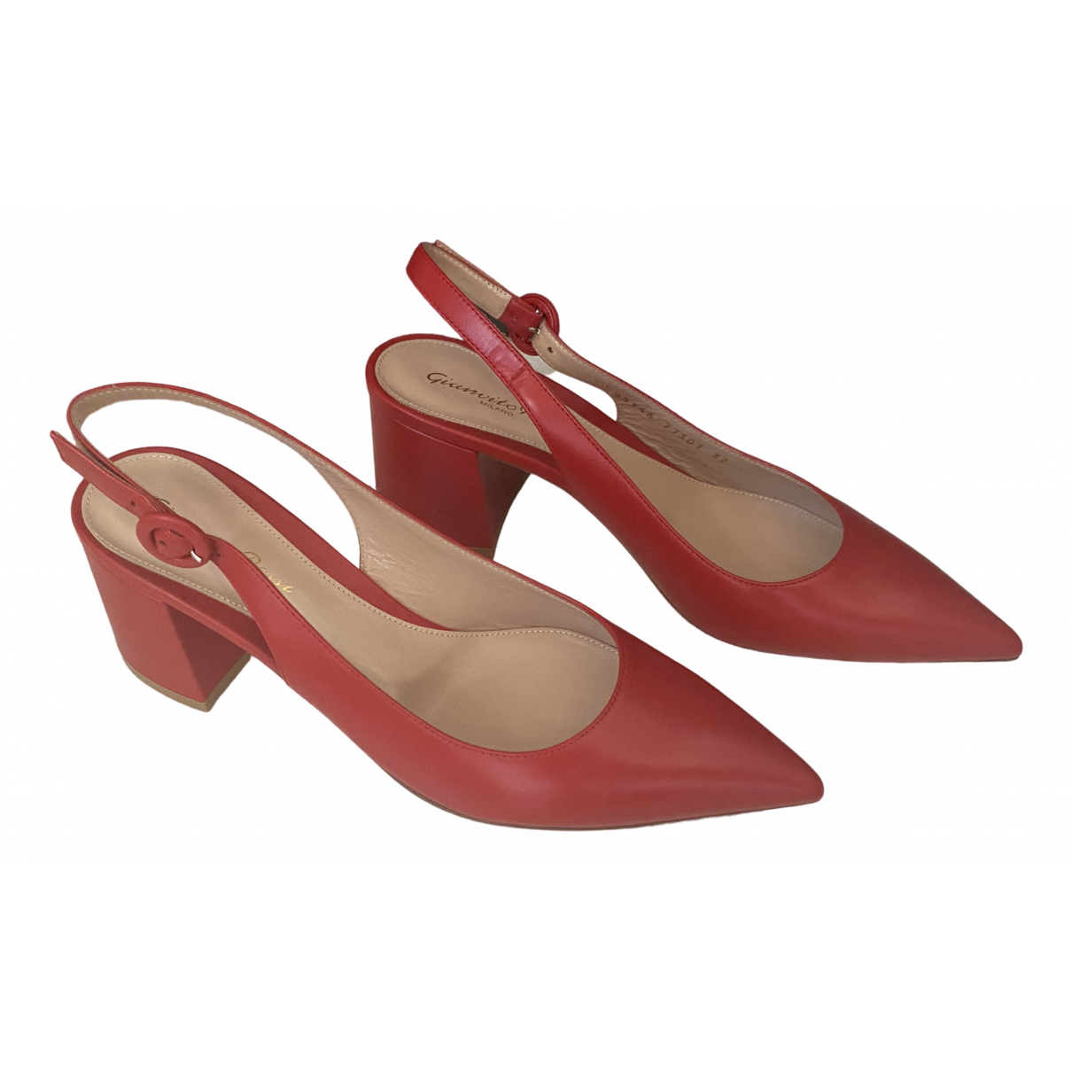 Gianvito Rossi \N Red Leather Heels for Women 37 EU