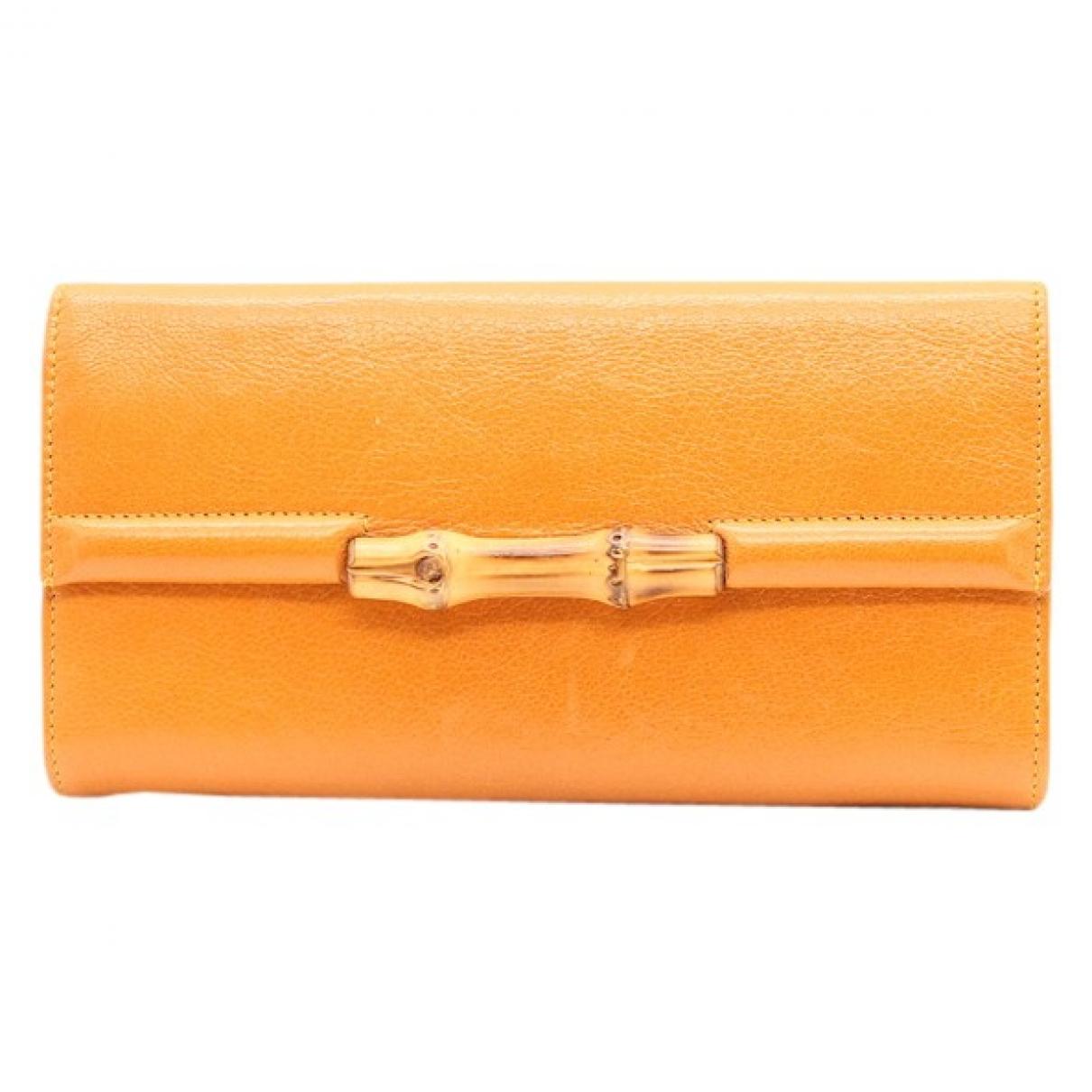 Gucci - Portefeuille   pour femme en cuir - orange
