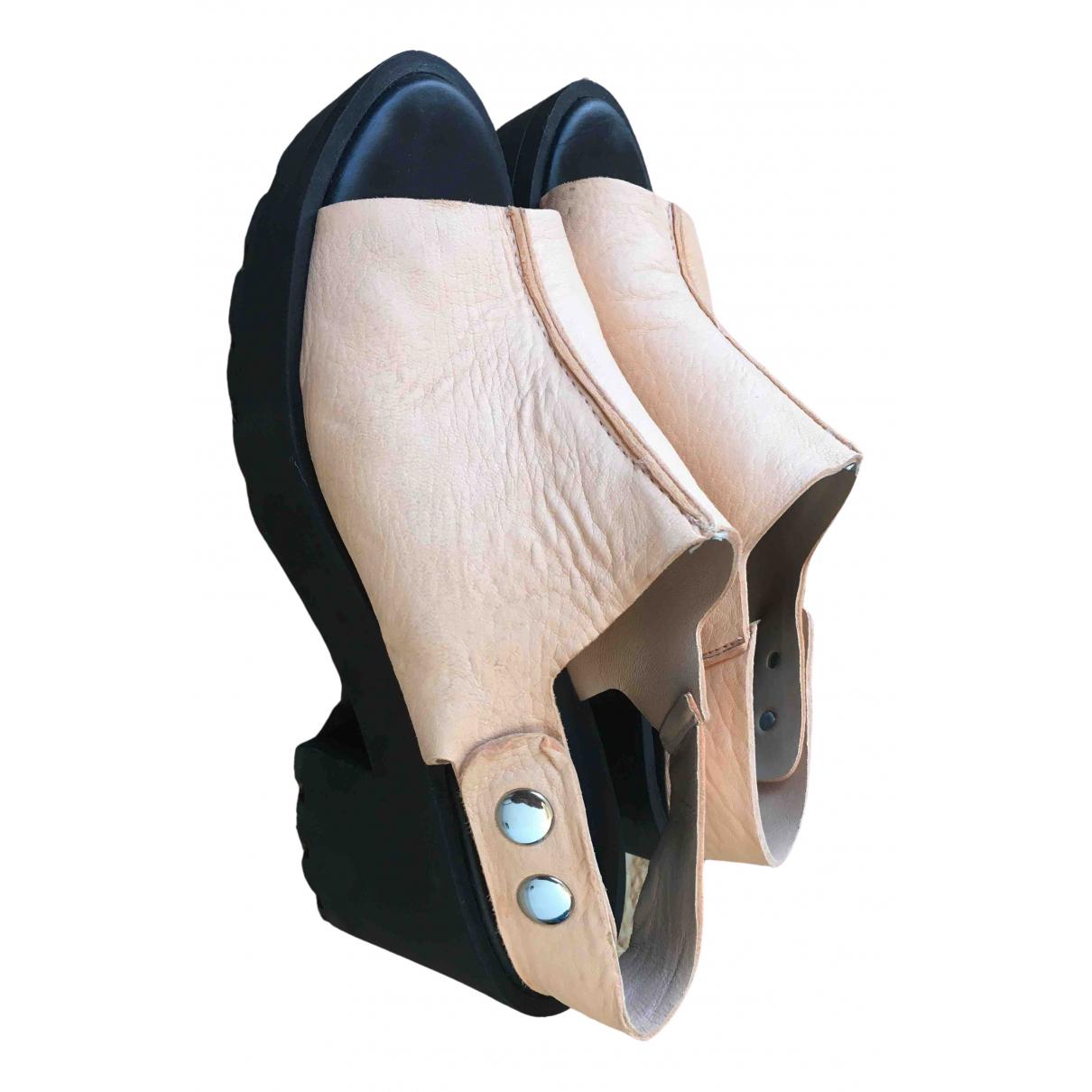 Bimba Y Lola \N Beige Leather Sandals for Women 40 EU