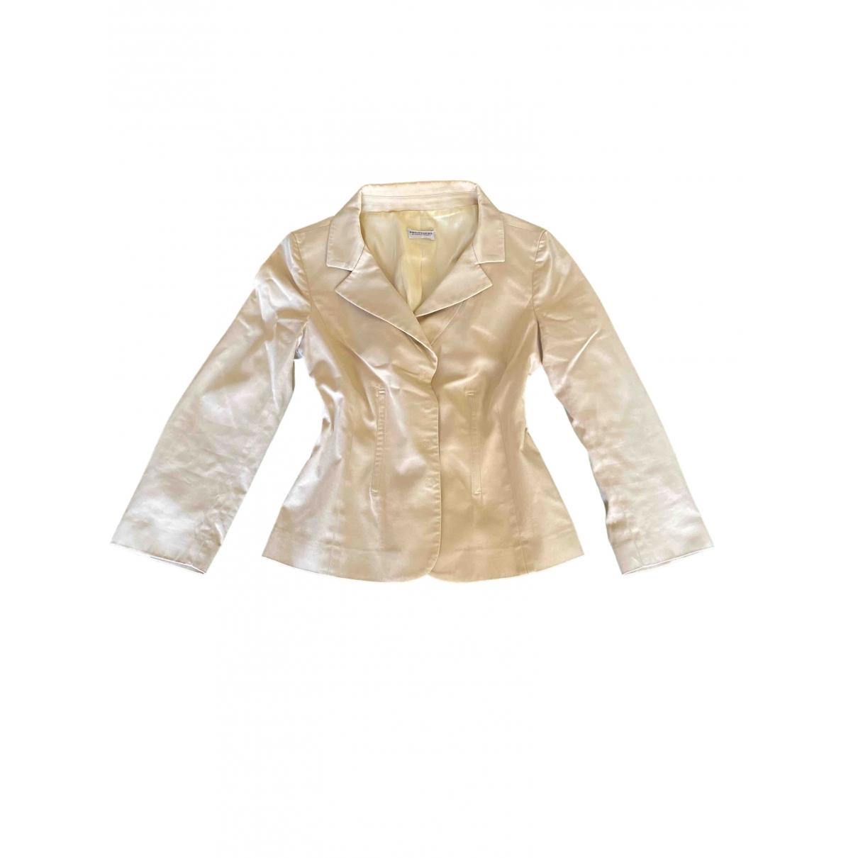 Philosophy Di Alberta Ferretti \N Beige Cotton jacket for Women 42 IT