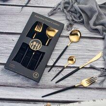 4pcs Stainless Steel Dinnerware Set