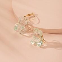 Clear Bear Drop Earrings