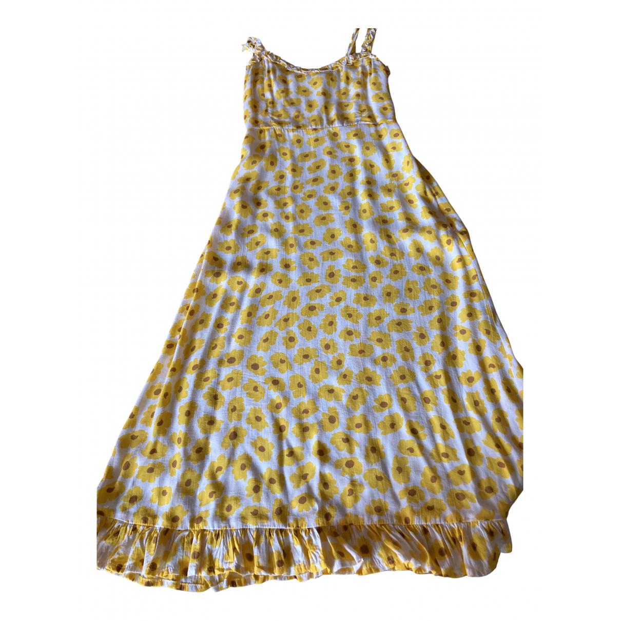 Faithfull The Brand \N Kleid in  Gelb Viskose