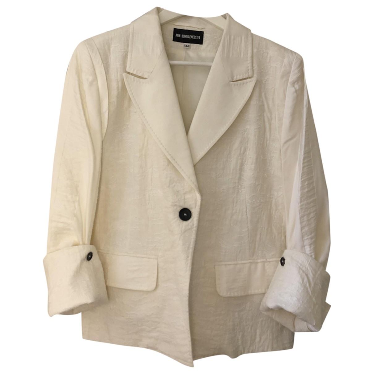 Ann Demeulemeester N White Cotton jacket for Women 44 IT