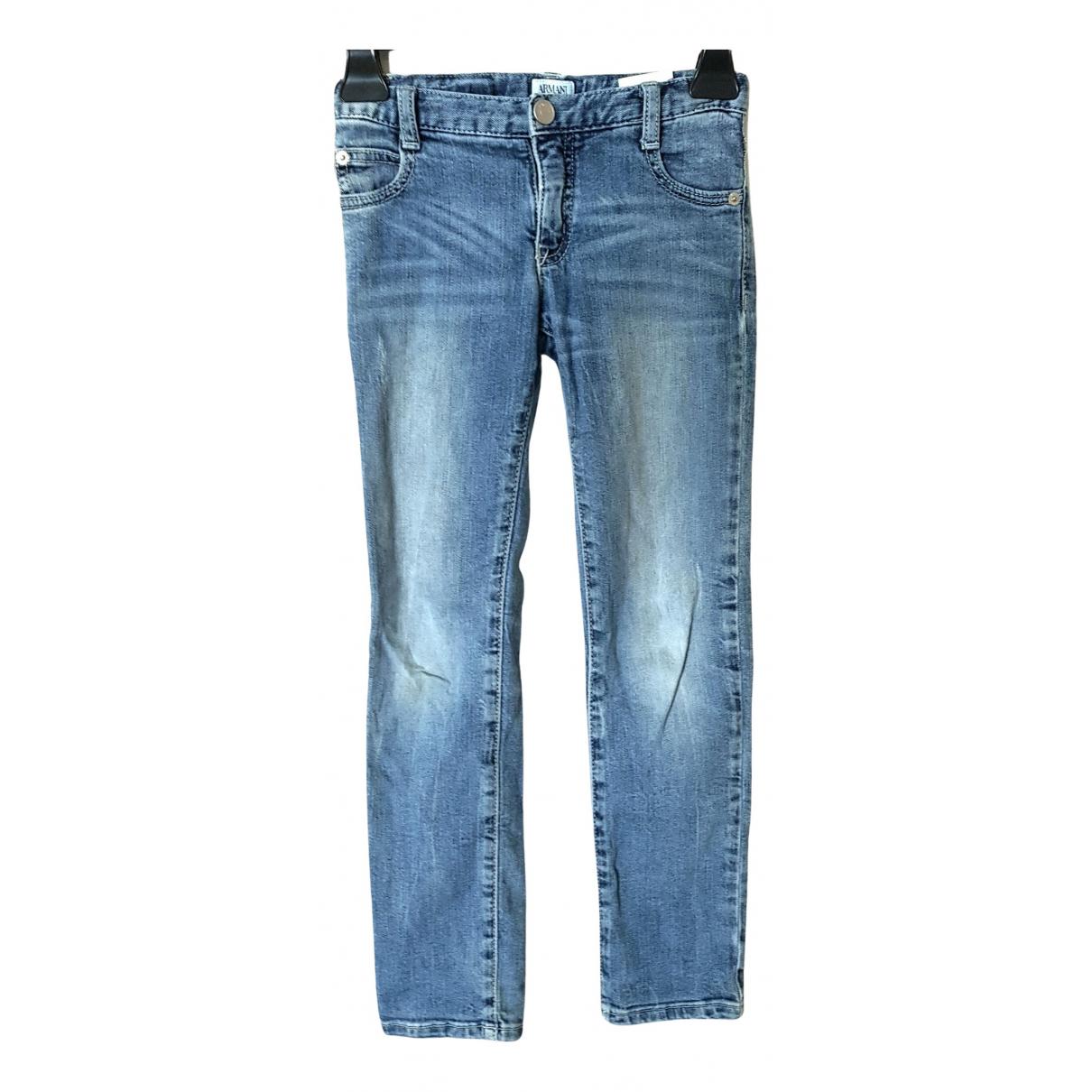 Armani Jean - Pantalon   pour enfant en coton - bleu
