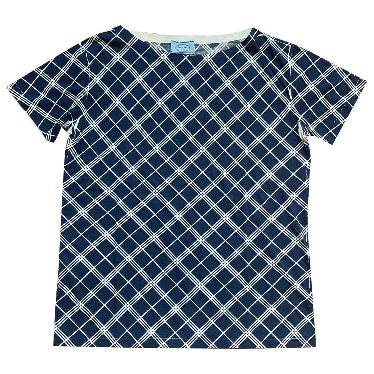 Prada \N Top in  Blau Baumwolle