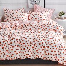 Set de cama con estampado de tomate sin relleno