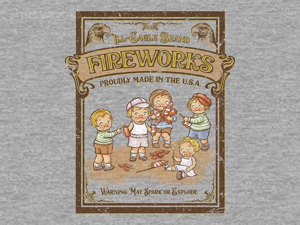 Vintage Fireworks T Shirt