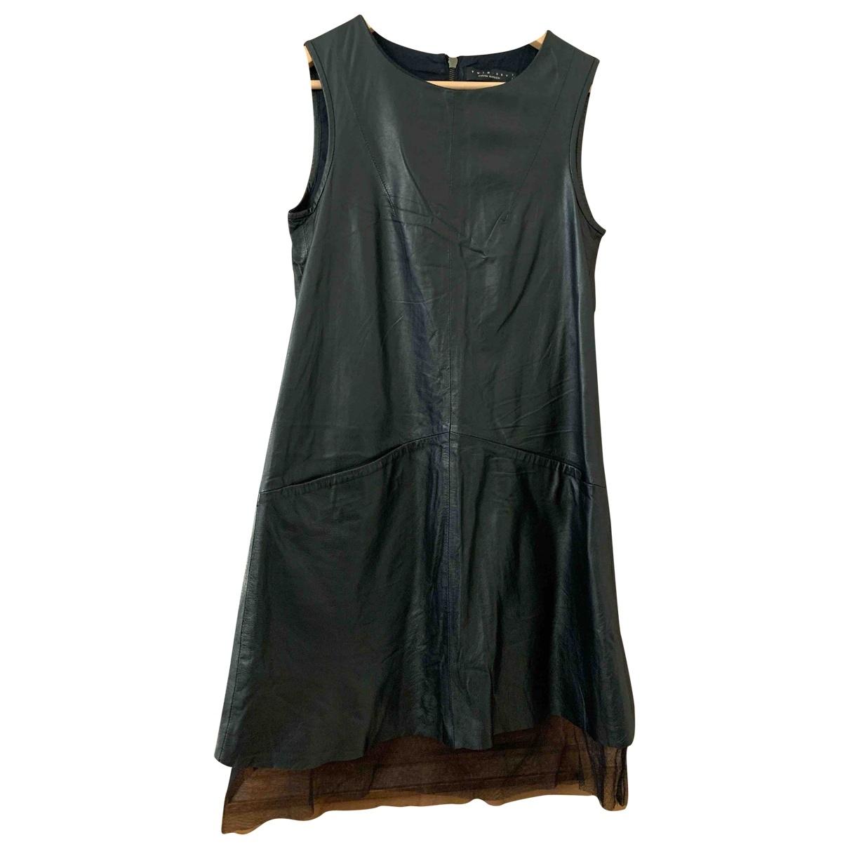 Twin Set \N Black Leather dress for Women S International