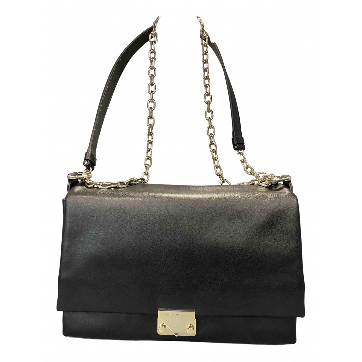 Emporio Armani N Black Leather handbag for Women N