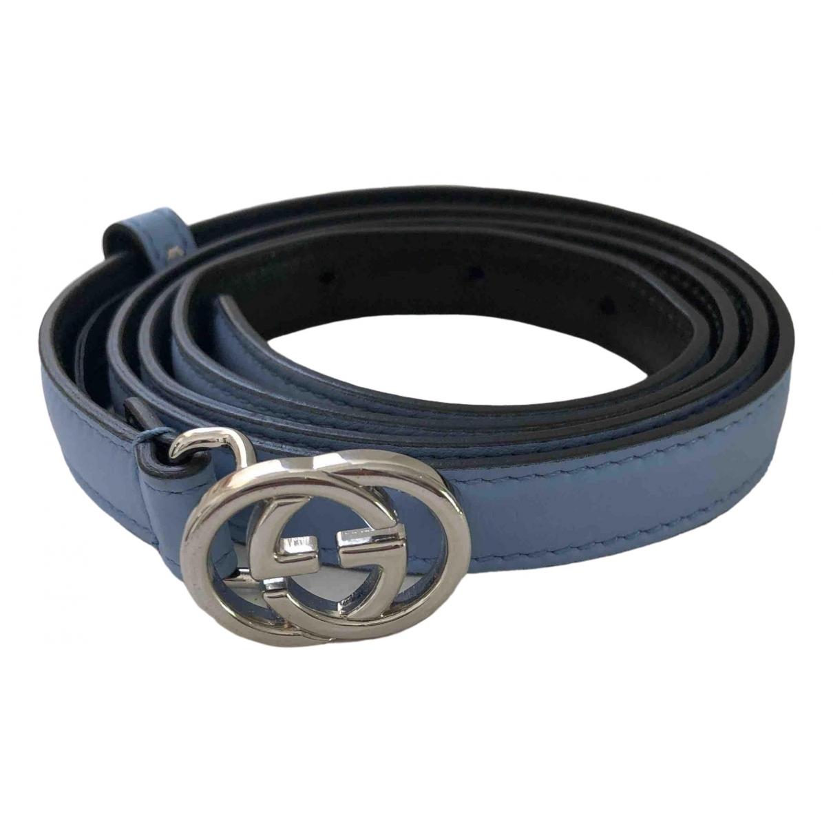 Gucci \N Blue Leather belt for Women 95 cm