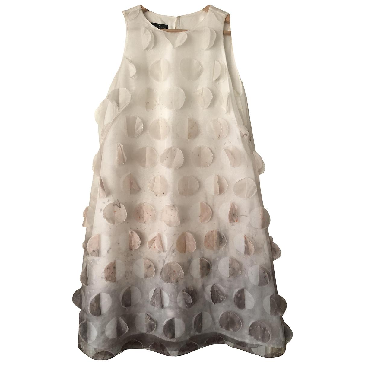 - Robe   pour femme en soie - blanc