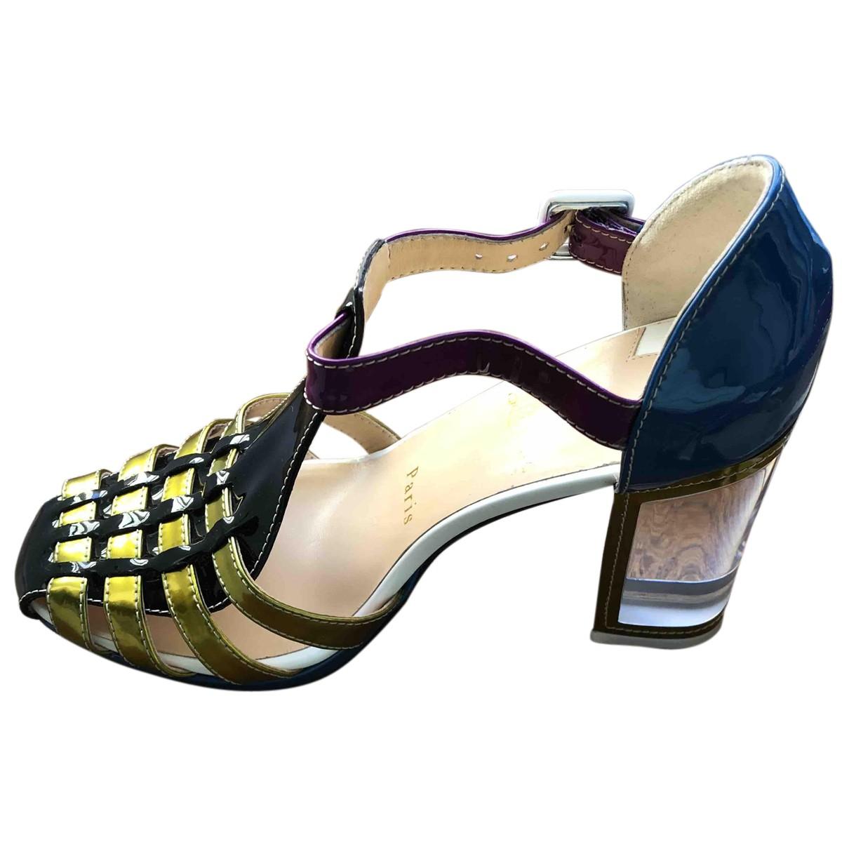 Christian Louboutin - Sandales   pour femme en cuir - multicolore