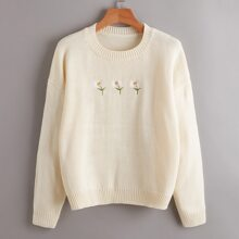 Flower Embroidery Sweater