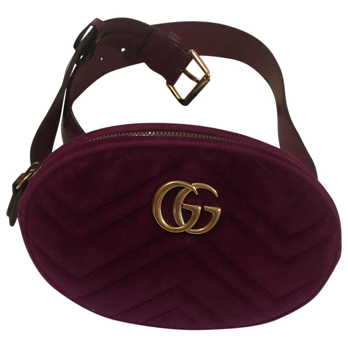 Gucci Marmont Clutch in  Lila Samt