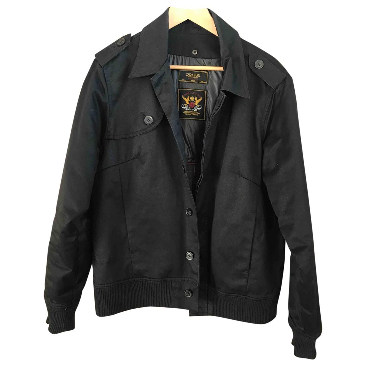 Zara \N Black Cotton jacket  for Men L International