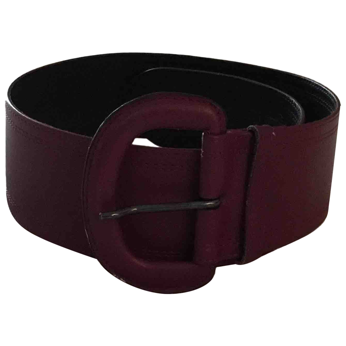 Non Signé / Unsigned \N Burgundy Leather belt for Women XS International