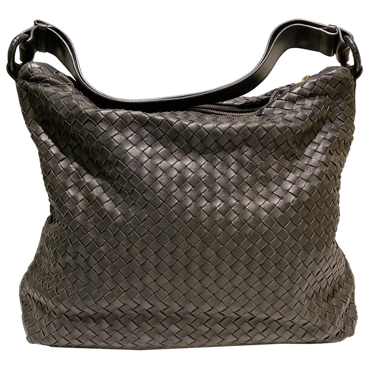 Bottega Veneta - Sac a main Veneta pour femme en cuir - noir
