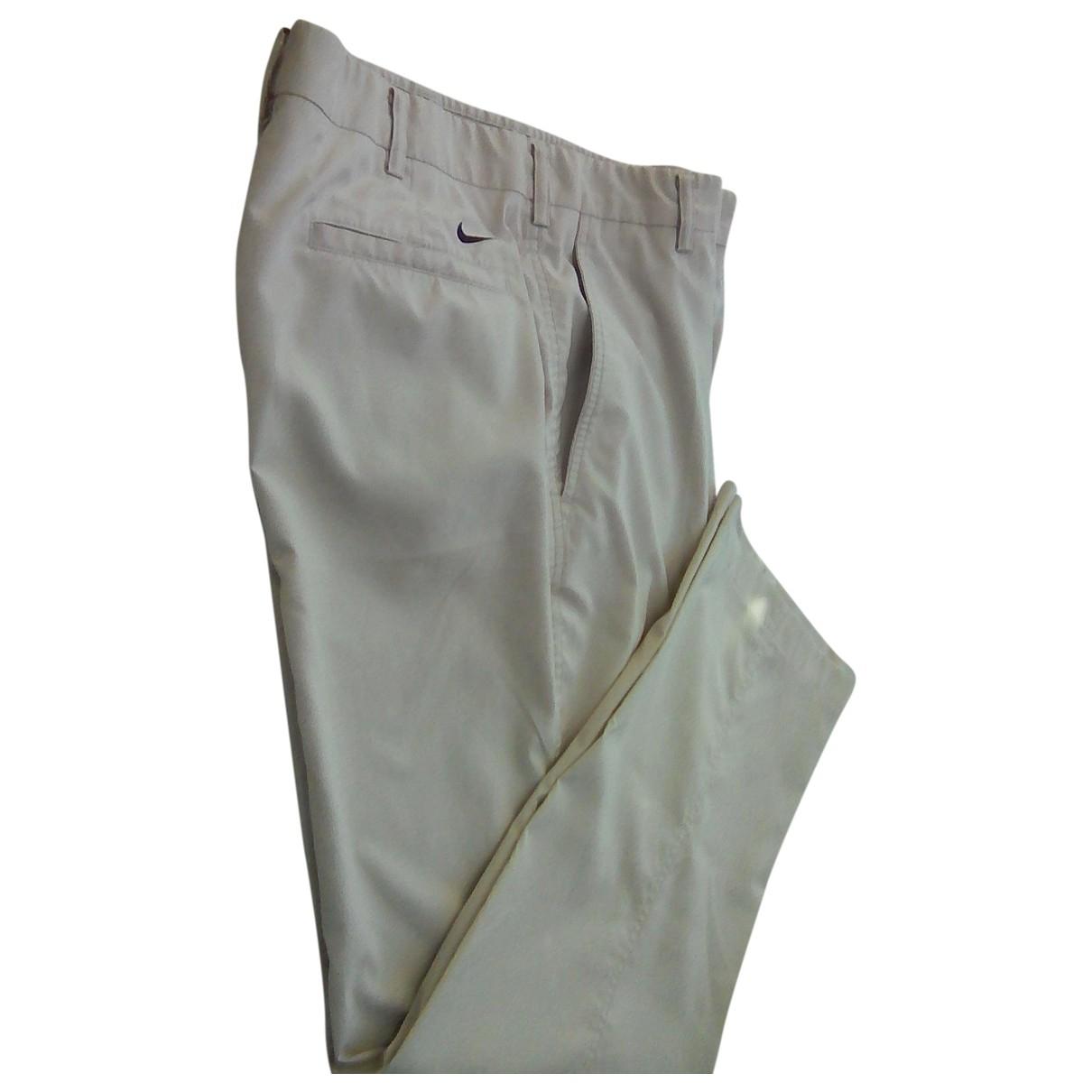 Nike \N Ecru Trousers for Men 32 UK - US