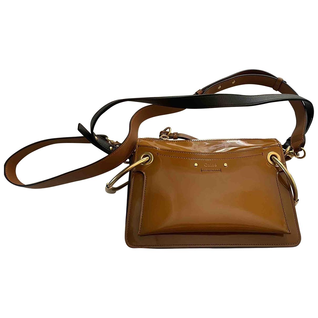 Chloé Roy Brown Patent leather handbag for Women \N