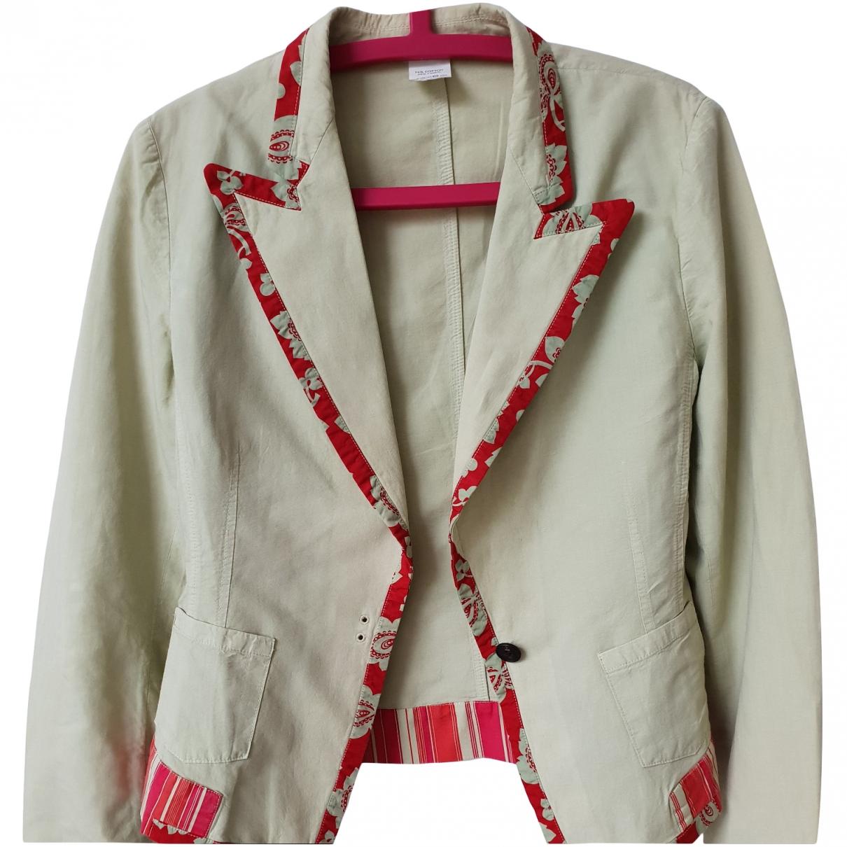 Dries Van Noten \N Green Linen jacket for Women 42 FR