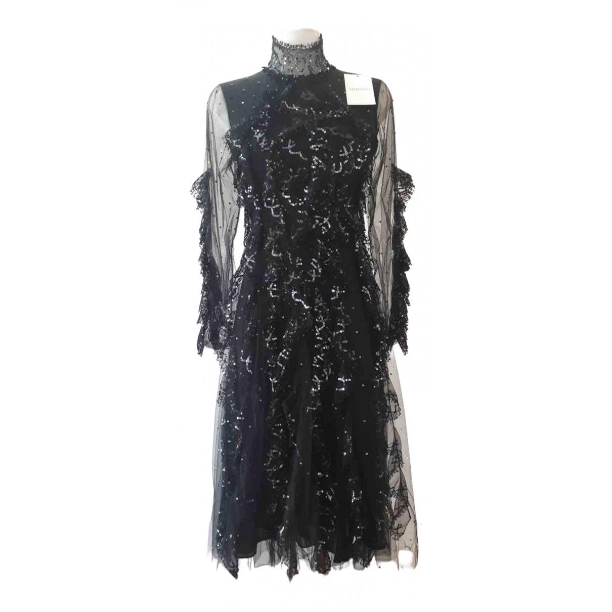 Valentino Garavani - Robe   pour femme en a paillettes - noir