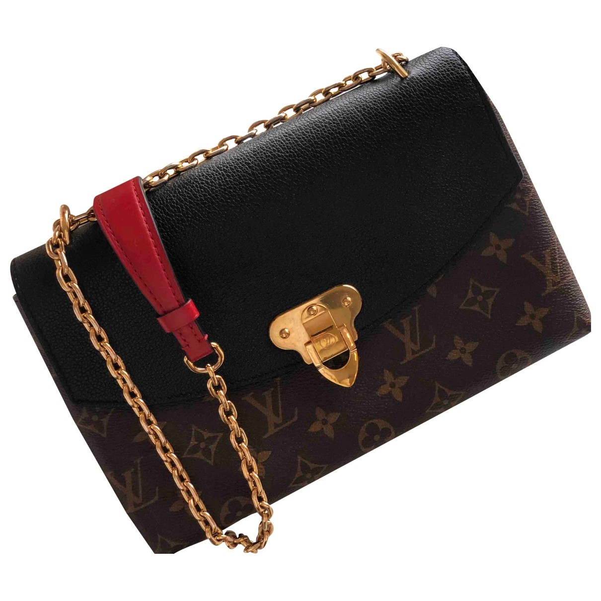 Louis Vuitton Saint Placide Handtasche in  Braun Leinen
