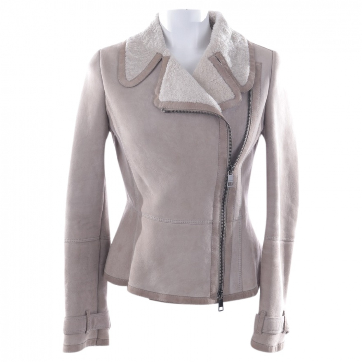 Burberry N Beige Fur jacket for Women 36 FR
