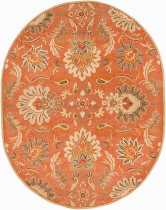 Caesar CAE-1112 6' x 9' Oval Traditional Rug in