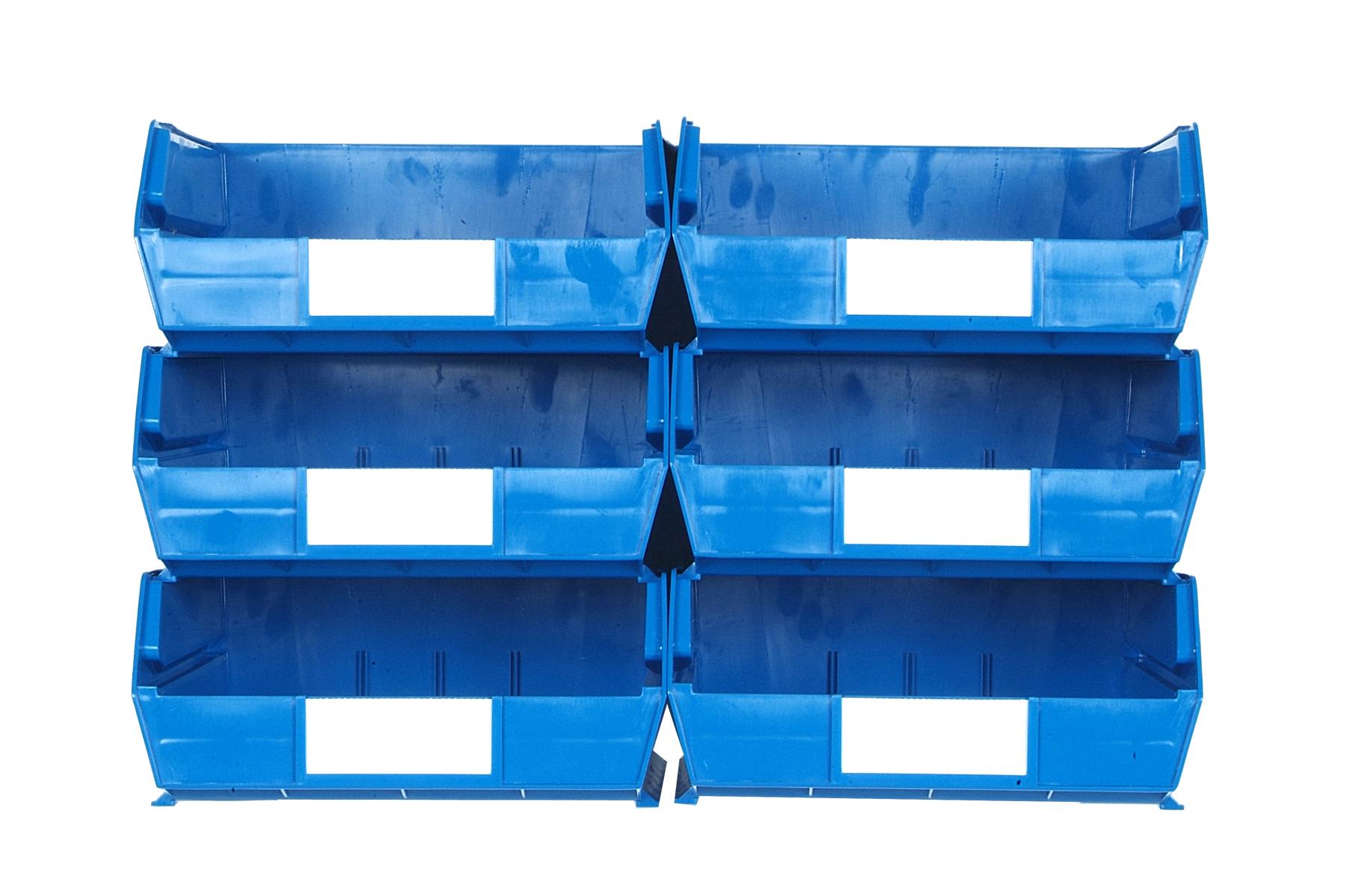 Triton Blue 8 PC Wall Storage Unit - Large