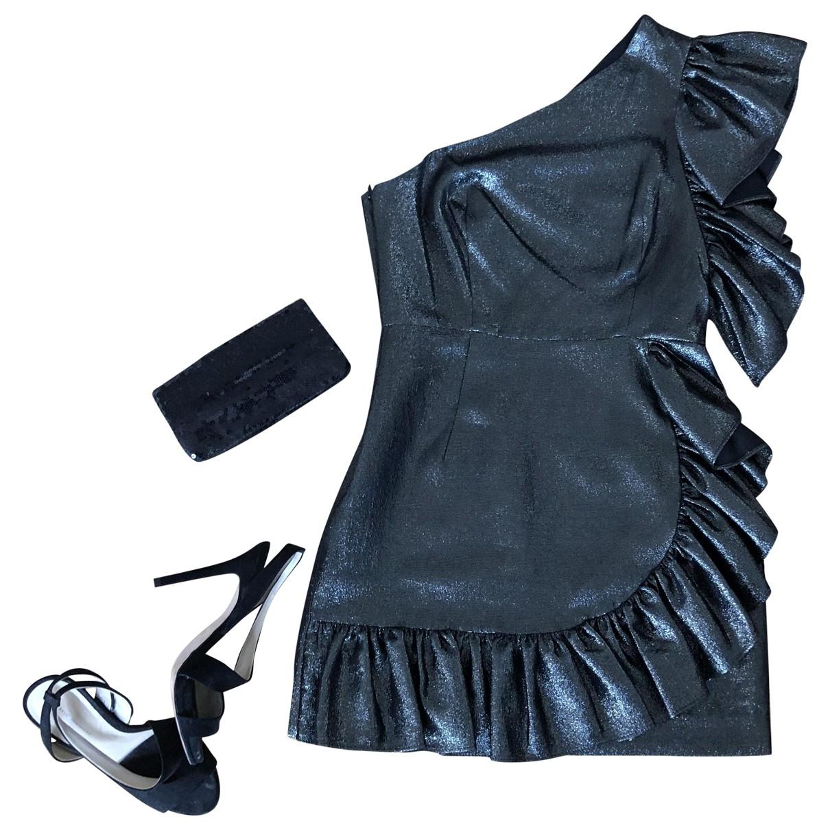 Sandro - Robe   pour femme en coton - elasthane - noir