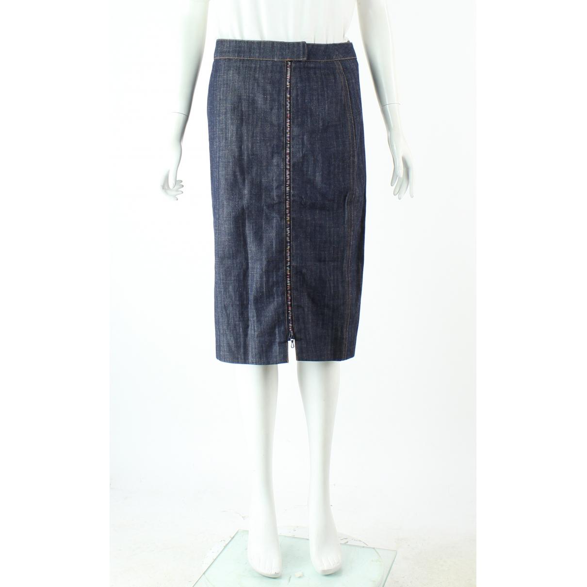 Chloé \N Navy Cotton skirt for Women 38 FR