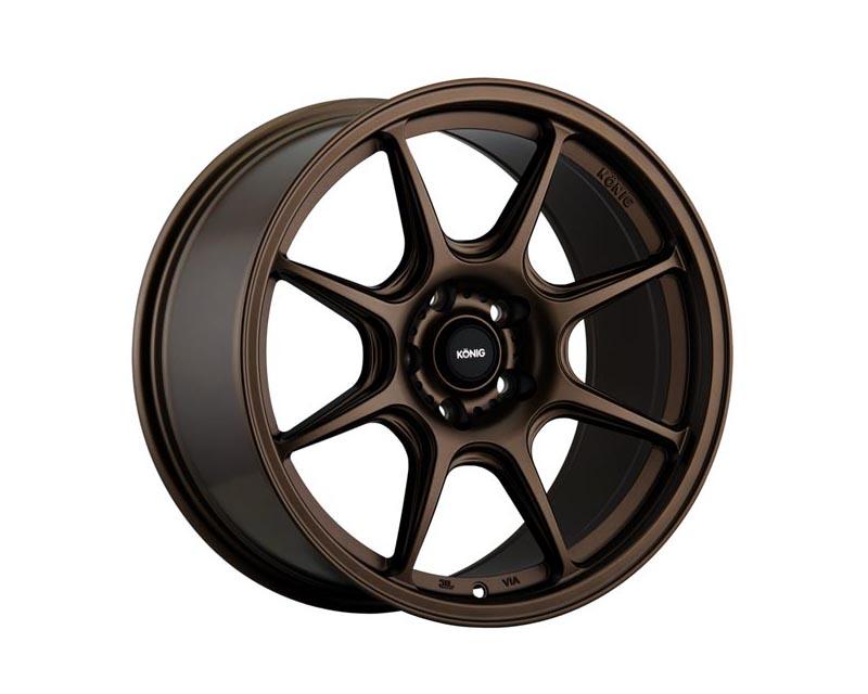 Konig Lockout Wheel 17x8 5x114.3 43 BZMTXX Matte Bronze