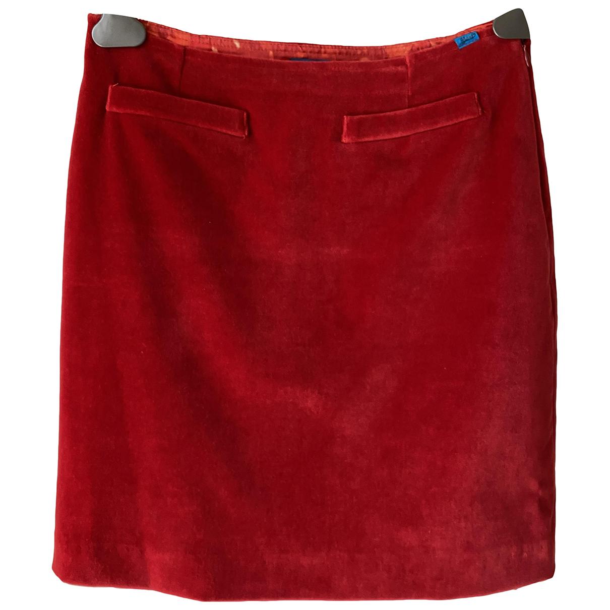 Christian Lacroix - Jupe   pour femme en velours - rouge