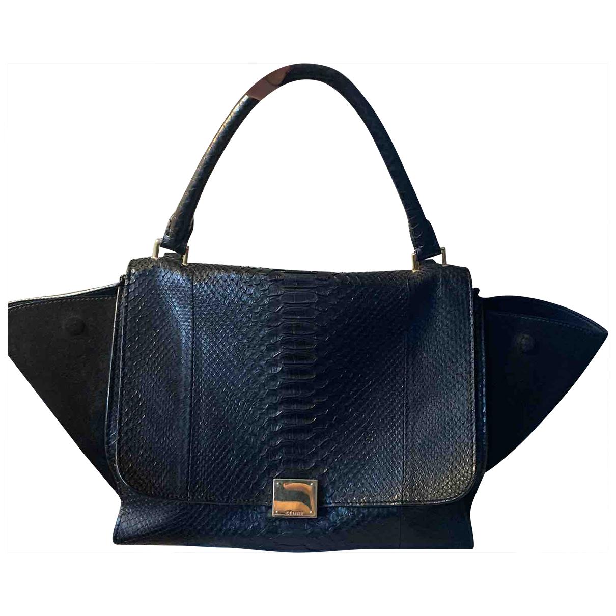 Celine Trapeze Handtasche in  Schwarz Python