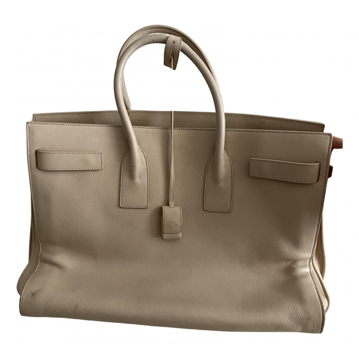 Saint Laurent Sac de Jour Beige Leather handbag for Women \N
