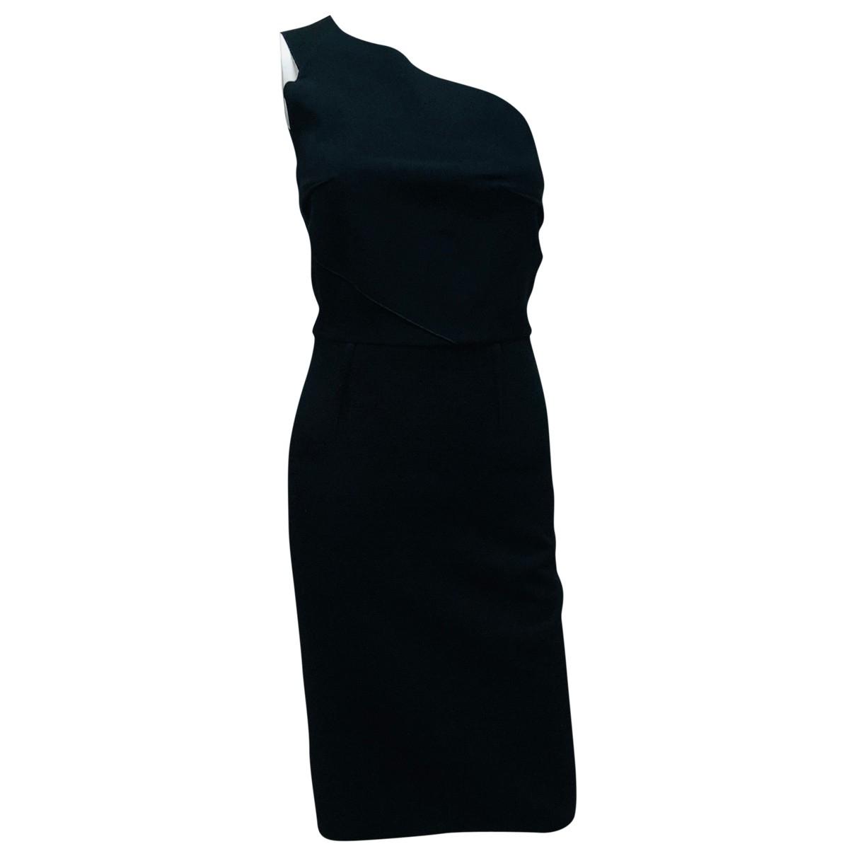 Roland Mouret \N Black Cotton dress for Women 36 FR