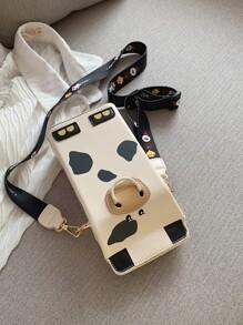 Cow Design Crossbody Bag