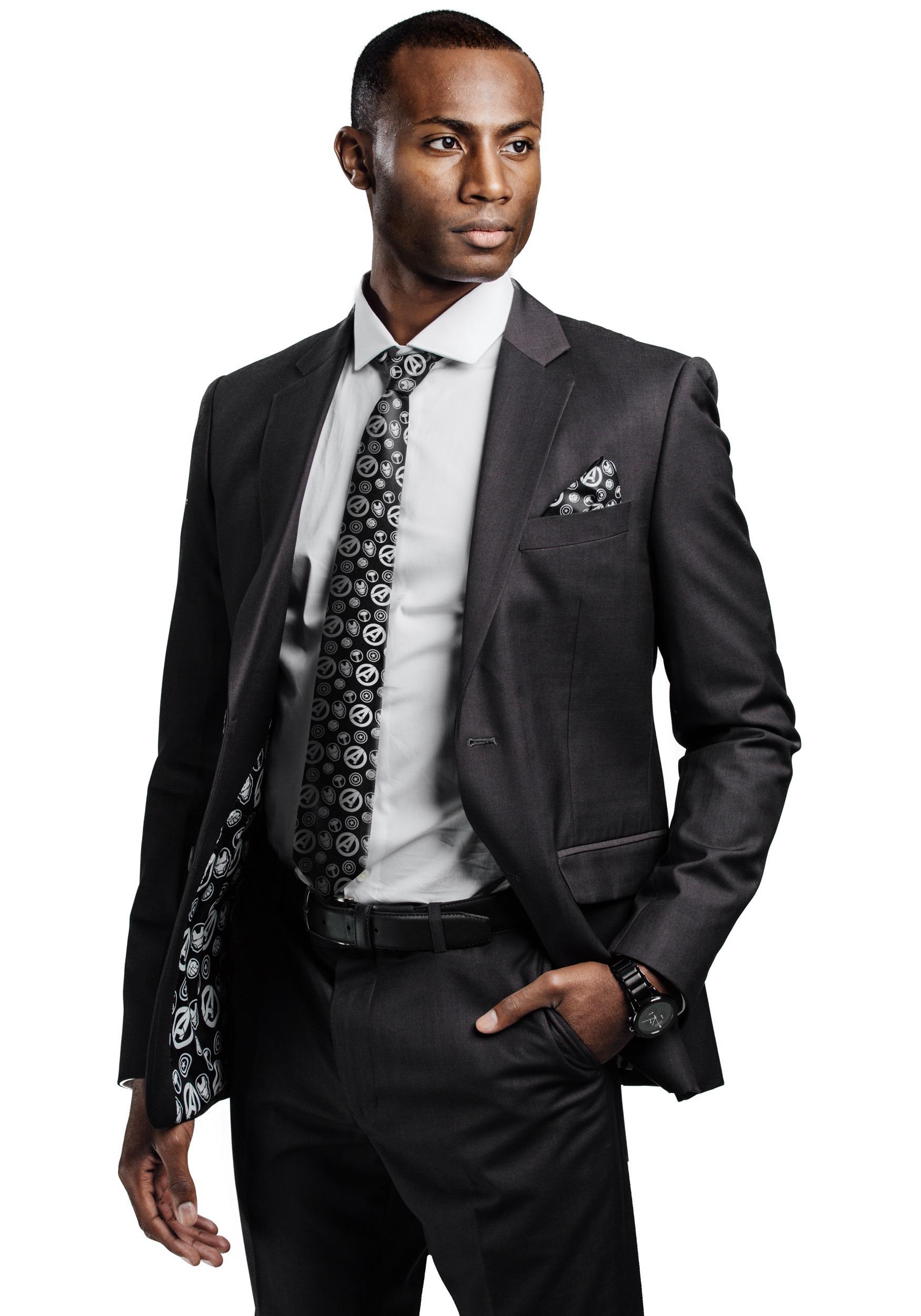 Secret Identity Avengers Slim Fit Suit Jacket