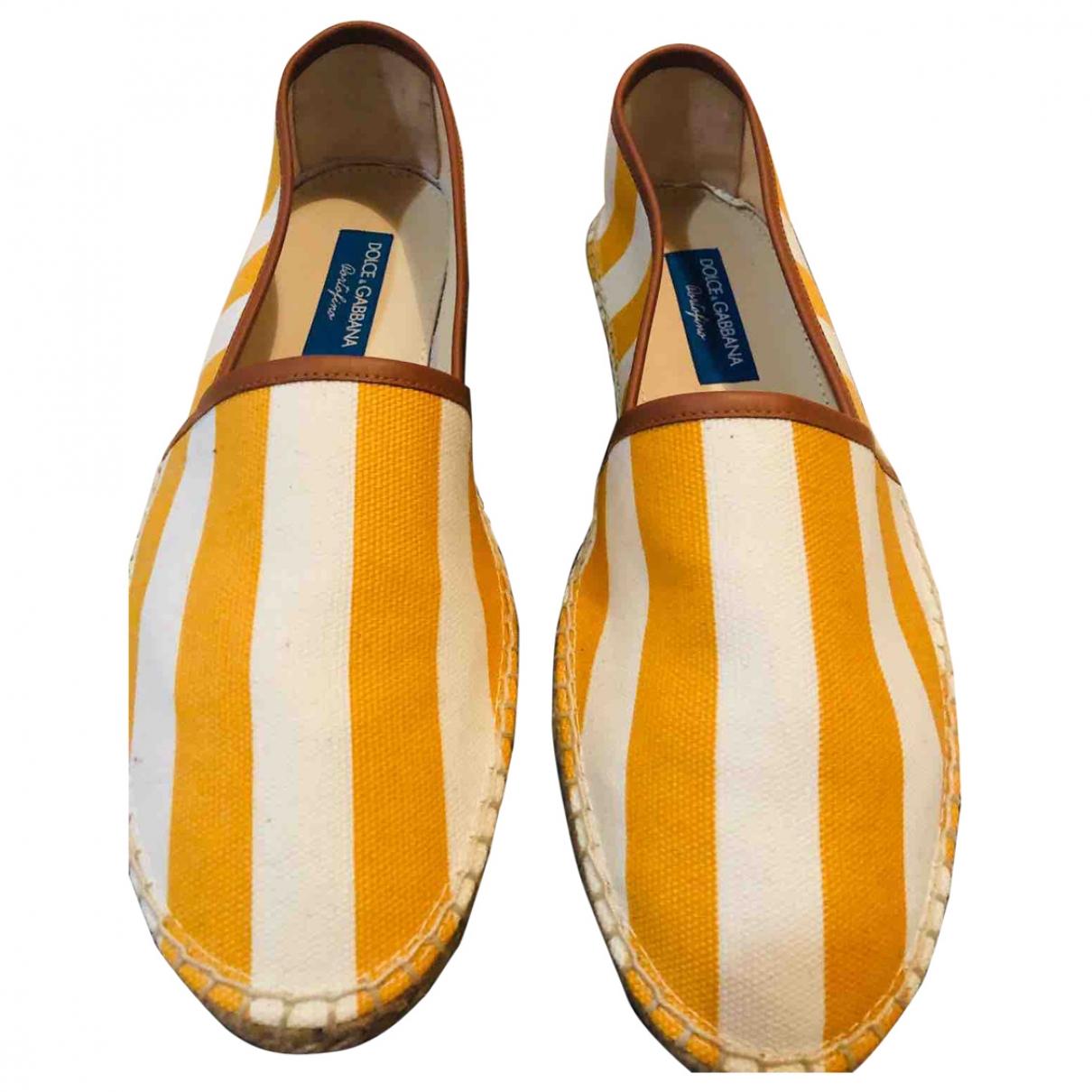 Dolce & Gabbana - Espadrilles   pour homme en toile - jaune