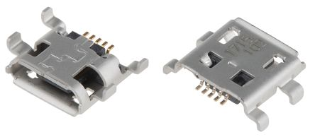 Molex USB Connector, Through Hole, Socket B, Solder, Right Angle (5)