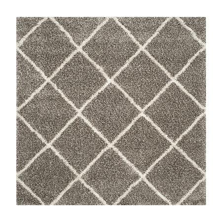 Safavieh Hudson Shag Collection Salome Geometric Square Area Rug, One Size , Multiple Colors