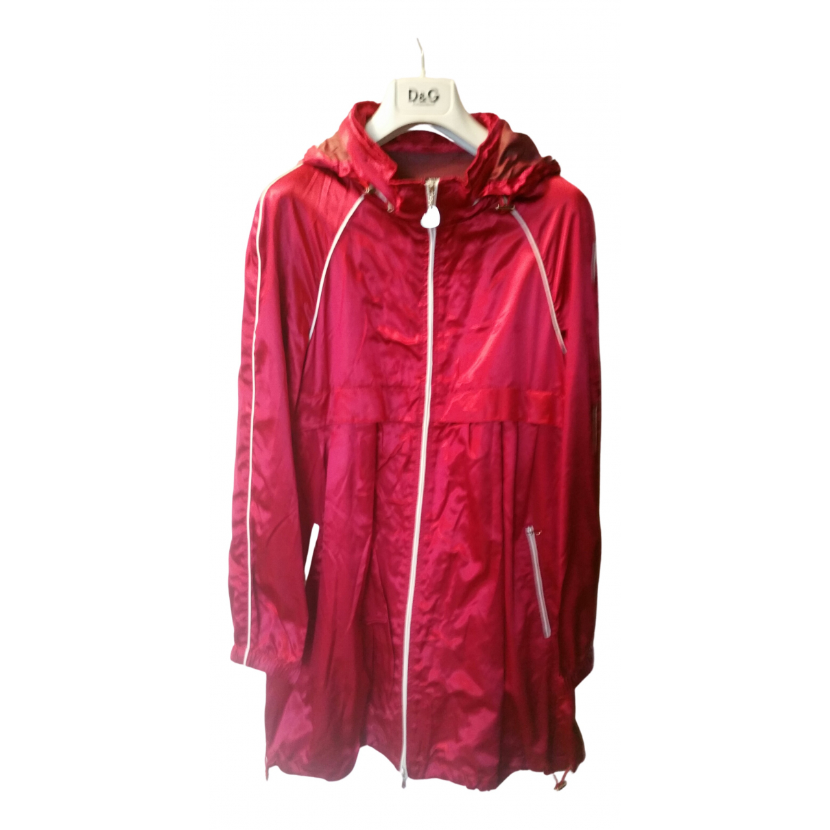 Moschino Love N Red Silk coat for Women 42 IT