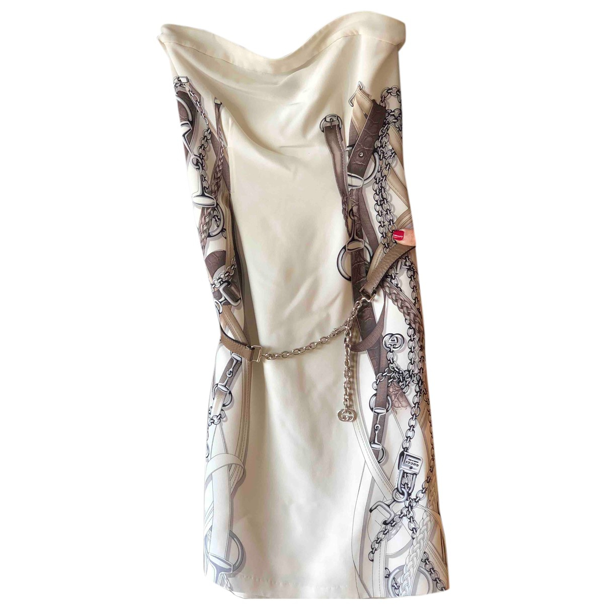 Gucci N Ecru Silk dress for Women 40 IT
