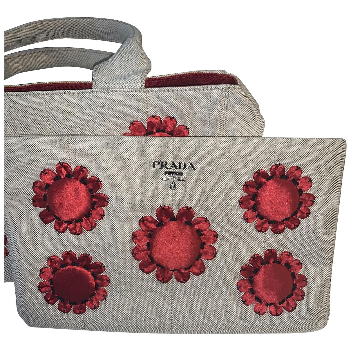 Prada \N Beige Cloth Clutch bag for Women \N
