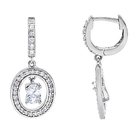 DiamonArt 1 CT. T.W. White Cubic Zirconia Sterling Silver Drop Earrings, One Size , No Color Family