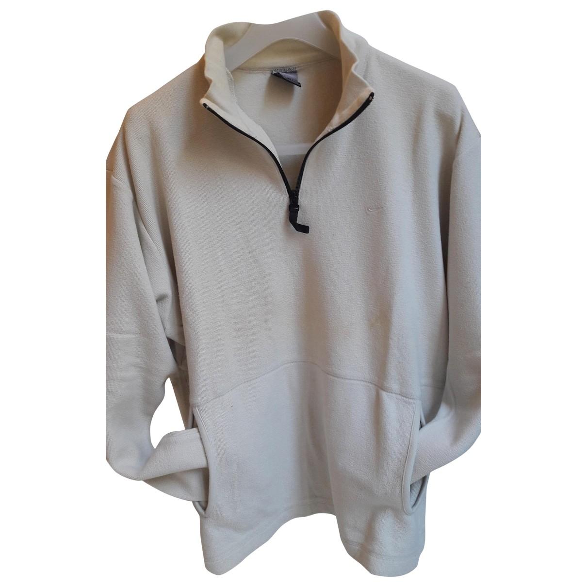 Nike \N Pullover.Westen.Sweatshirts  in  Ecru Baumwolle